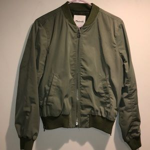 Madewell spring green bomber jacket